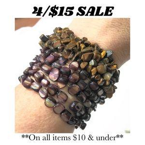 🤑🤑4/$15🤑🤑Tiger Eye Purple Shell Bracelets